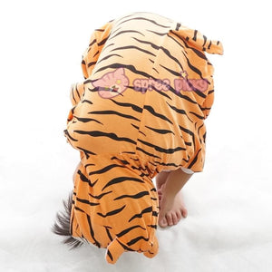 Kids Tiger Animal Summer Onesies Kigurumi Jumpersuit Nightwear Pajamas SP152059 - SpreePicky  - 5