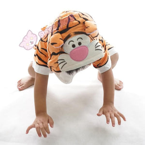 Kids Tiger Animal Summer Onesies Kigurumi Jumpersuit Nightwear Pajamas SP152059 - SpreePicky  - 3