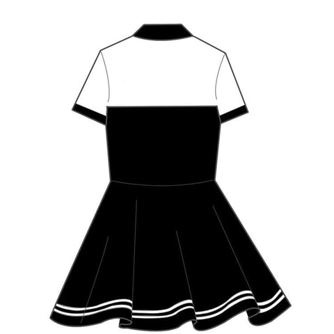 [Kumamoto] S/M Black and White Kawaii Dress SP167155