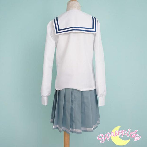 [境界の彼方] Kyokai no Kanata Kuriyama Mirai Sailor School Uniform Top and Skirt Set SP151634 - SpreePicky  - 7