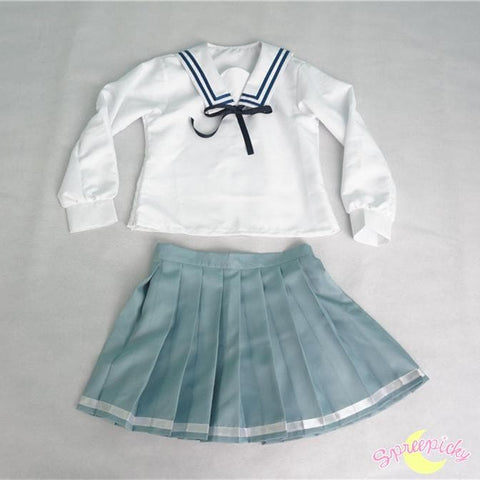 [境界の彼方] Kyokai no Kanata Kuriyama Mirai Sailor School Uniform Top and Skirt Set SP151634 - SpreePicky  - 5