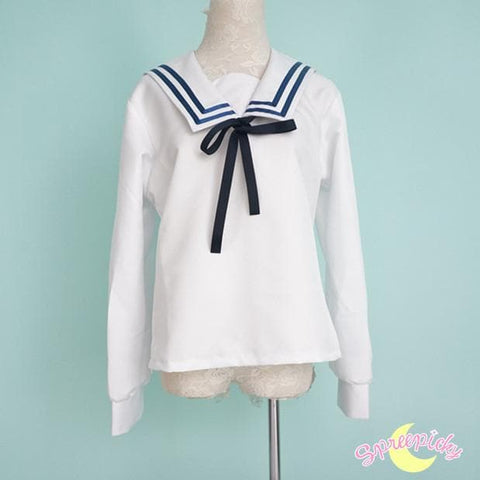 [境界の彼方] Kyokai no Kanata Kuriyama Mirai Sailor School Uniform Top and Skirt Set SP151634 - SpreePicky  - 8