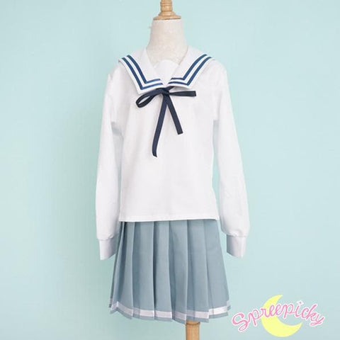 [境界の彼方] Kyokai no Kanata Kuriyama Mirai Sailor School Uniform Top and Skirt Set SP151634 - SpreePicky  - 6