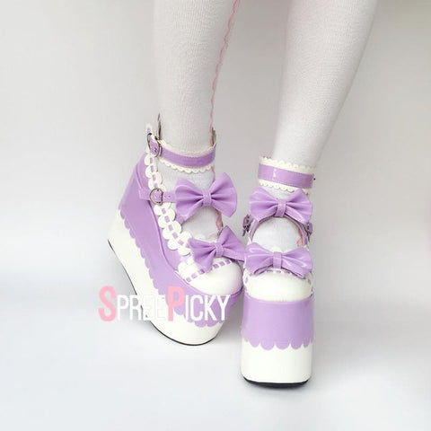 Lavender Love Lolita Platform Shoes SP1710019