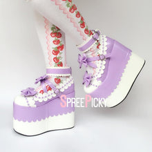 Load image into Gallery viewer, Lavender Love Lolita Platform Shoes SP1710019