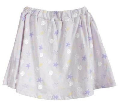Light Blue/Pastel Violet Kawaii Printing Skirt SP166448