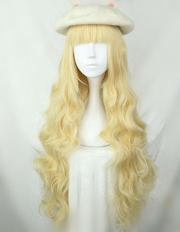 Harajuku Lolita Golden Long Curly Wig SP166374