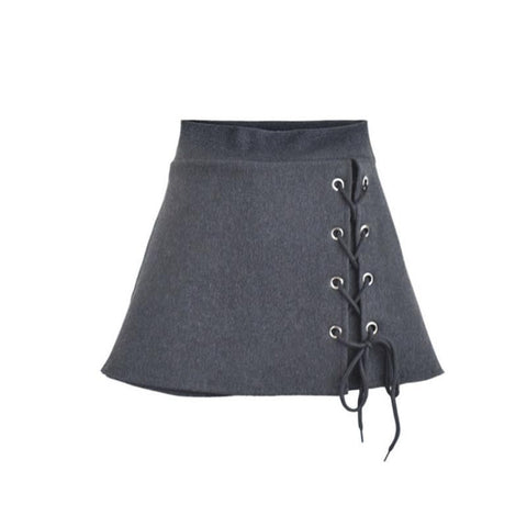 Light Grey/Dark Grey High Waist Bandage Skirt SP168194
