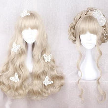 Load image into Gallery viewer, Light Khaki Long Curly Wig SP178796