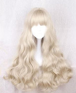 Light Khaki Long Curly Wig SP178796