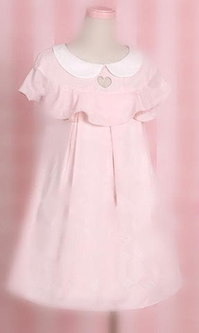 Light Pink/Light Blue Heart Hollow Out Dress SP167109