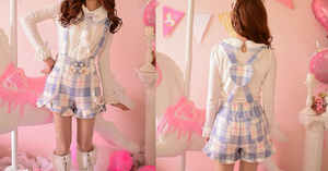 S/M/L Little Blue Fairy Suspender Shorts SP153627 - SpreePicky  - 2