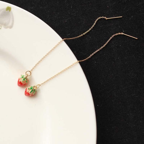 Little Strawberry Necklace/hairpin SP152540 - SpreePicky  - 5