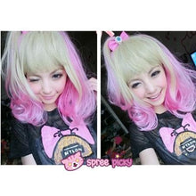 Load image into Gallery viewer, Lolita Harajuku Pink/Yellow Mixed Air Bobo Wig SP151679 - SpreePicky  - 2