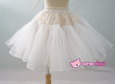 Lolita Black/White Supper Strong Fluffy Layers Petticoat Skirt SP152074 - SpreePicky  - 5