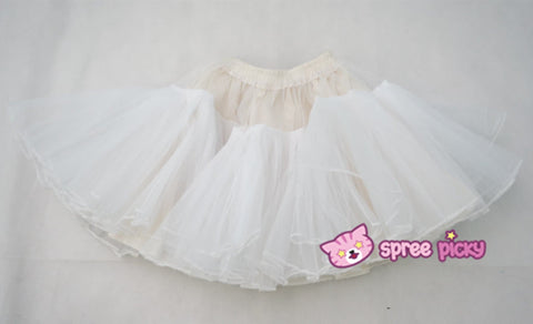 Lolita Black/White Supper Strong Fluffy Layers Petticoat Skirt SP152074 - SpreePicky  - 6