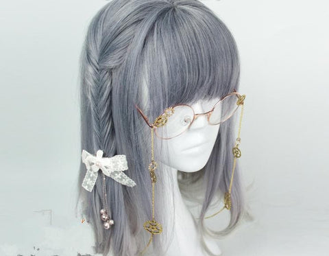Lolita Blue Gray Mixed Color Cosplay Wig SP166227