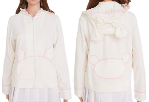 Lolita Bunny/Bear Ears Lace Hooded Coat SP140500 - SpreePicky  - 3