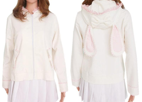 Lolita Bunny/Bear Ears Lace Hooded Coat SP140500 - SpreePicky  - 2