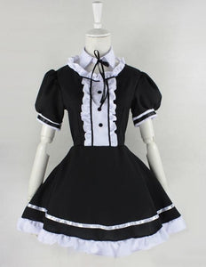 Lolita Cosplay BlacK Maid Dress With Apron  SP141076 - SpreePicky  - 6