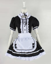 Load image into Gallery viewer, Lolita Cosplay BlacK Maid Dress With Apron  SP141076 - SpreePicky  - 5