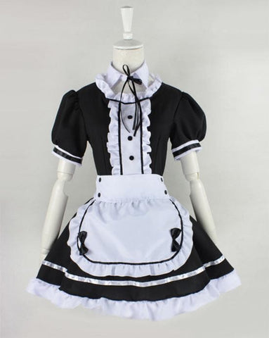 Lolita Cosplay BlacK Maid Dress With Apron  SP141076 - SpreePicky  - 5