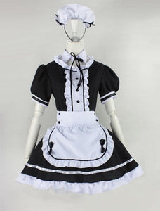 Lolita Cosplay BlacK Maid Dress With Apron  SP141076 - SpreePicky  - 4