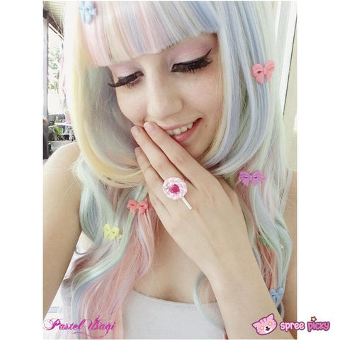 Lolita Cosplay Ice-Cream Rainbow Curly Long Wig SP130001 - SpreePicky  - 2