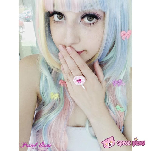 Lolita Cosplay Ice-Cream Rainbow Curly Long Wig SP130001 - SpreePicky  - 3