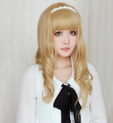 Lolita Curl K-ON Cosplay Gold Wig SP152569 - SpreePicky  - 4