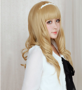 Lolita Curl K-ON Cosplay Gold Wig SP152569 - SpreePicky  - 6