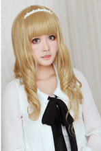 Load image into Gallery viewer, Lolita Curl K-ON Cosplay Gold Wig SP152569 - SpreePicky  - 5