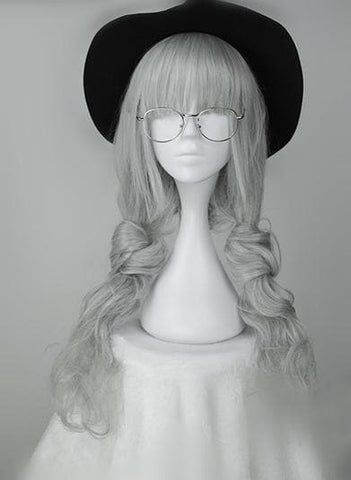 Lolita Gray Long Curly Hair Wig SP166223