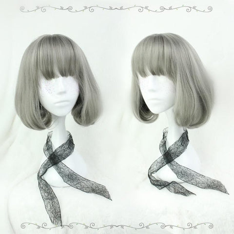 Lolita Gray Short Curly Hair Wig SP166842