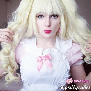 Lolita Harajuku Cosplay Light Gold Wig with 2 Pony Tails 3 Pieces Set SP130184 - SpreePicky  - 3