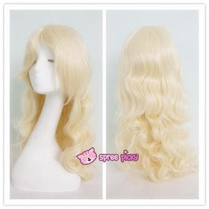 Lolita Harajuku Cosplay Light Gold Wig with 2 Pony Tails 3 Pieces Set SP130184 - SpreePicky  - 6