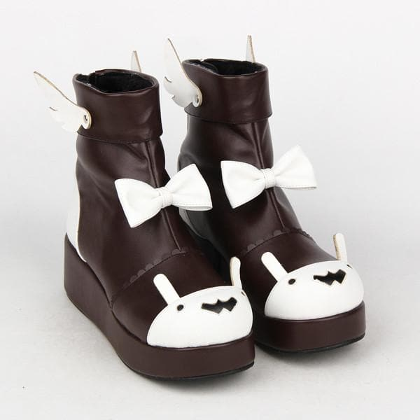 f5812a371520e Lolita High Platform Shoes With Bowknot and Wings SP165019