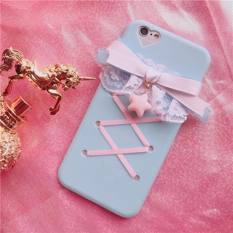 Lolita Lace Ribbon Bow Iphone Phone Case SP1812007