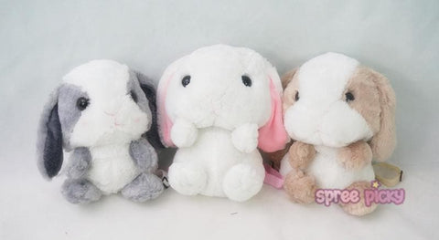 4 Colors Lolita Lop-ear Bunny Plush Backpack SP164874