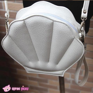 Purple/Green/Pink/Black/White Lolita Mermaid Sea Shell Bag Cross Body Bag SP130290 - SpreePicky  - 3