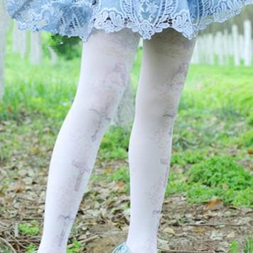 Lolita Pastel Cute Angels Crosses Printing Tights SP130266 - SpreePicky  - 2