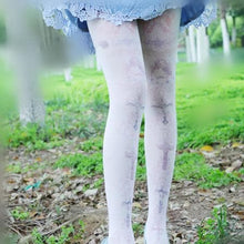 Load image into Gallery viewer, Lolita Pastel Cute Angels Crosses Printing Tights SP130266 - SpreePicky  - 1