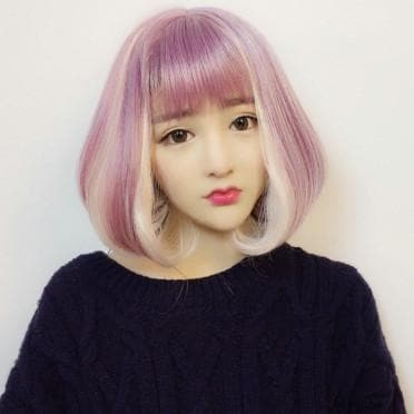 Lolita Pink Mix Purple BOBO Hair Wig SP166835