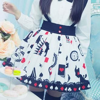 Lolita Playing Card Suspender Skirt SP179275