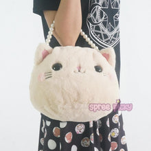 Load image into Gallery viewer, Lolita Plush Kitty Cat Shoulder Bag SP165235