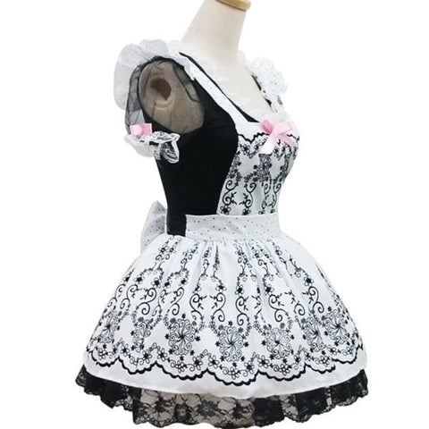 Lolita Retro Floral Lace Princess Maid Dress Cosplay Costume  SP153687 - SpreePicky  - 4