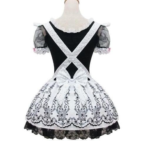 Lolita Retro Floral Lace Princess Maid Dress Cosplay Costume  SP153687 - SpreePicky  - 5