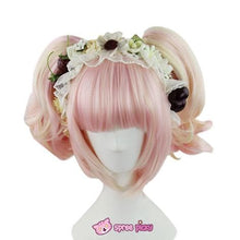Load image into Gallery viewer, Lolita Sakura Pink and Pale Gold Mixed Color Wig with 2 Pony Tails 3 Pieces Set SP152073 - SpreePicky  - 1