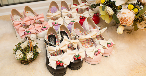 7 Colors Lolita Strawberry Princess  Shoes SP153554 - SpreePicky  - 2