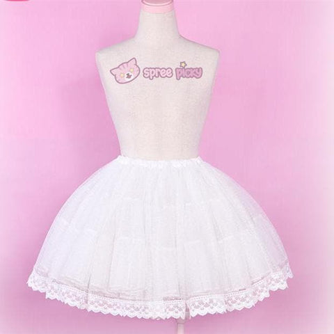 [Reservation] Lolita White Color Supper Gorgeous Petticoat Skirt SP152079 - SpreePicky  - 1